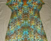 4834 Womens 2X/3X L.A.T. V-Neck T-Shirt Dress/Coverup 100% Cotton