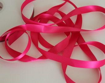 """5/8"""" Double-Faced Satin Ribbon - Fuchsia"""
