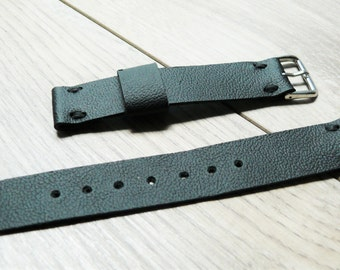 Pebble watch Black leather watch band, Handmade leather watch strap, genuine leather watch strap 22mm watch band, mens anniversary