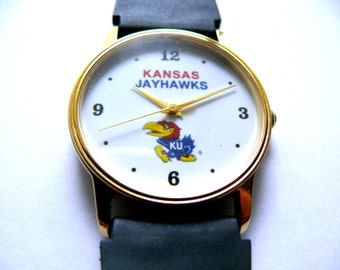 Kansas Jayhawks University wrist watch college sports watch
