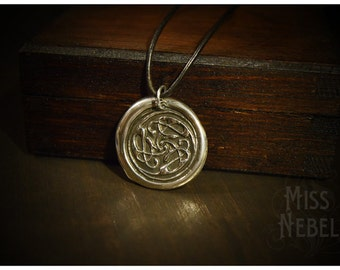 """Silver Pendant Cats celtic knot """"Pangur Bán"""""""