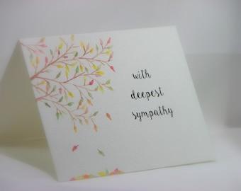 OOAK Handpainted Sympathy Greeting Card