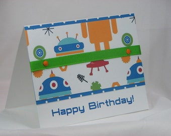 Robotic Happy Birthday Greeting Card