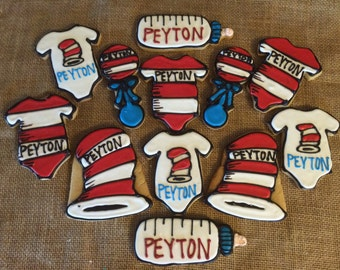 Dr. Seuss Baby Shower Cookie Favors