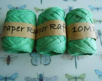 Raffia Twine Skeins Aqua Green 3 pcs