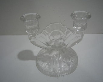 Vintage Cut Glass Candle holder or Candle Opera