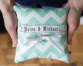 Chevron Wedding Ring Cushion - Ring Bearer Cushion - Wedding ring holder - Ring Holder