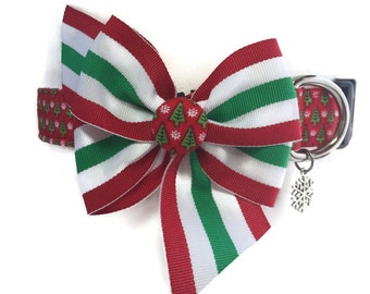 Buon Natale Christmas Dog Collar size Medium