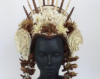 Flower Headdress with Spike Crown