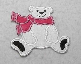 Polar Bear (small) Tutu & Shirt Supplies - fabric iron on Applique Patch 7957