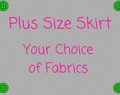 Plus Size Skirt - Your Choice of Fabrics - Mother Daughter -Cosplay -  Ships Priority -Disney Christmas Red White Minnie Baseball