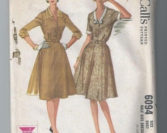 Vintage 1960s Dress Sewing Pattern Bust 33 McCall's 6094 Uncut