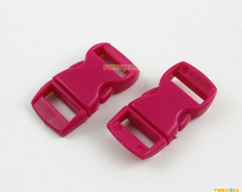100 Pieces 10mm Hot Red Plastic Side Quick Release Buckle Clip for Backpack Bag (RBCNO10)