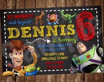 Toy Story Birthday Invitation (TS01)