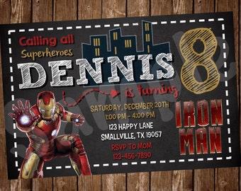 Iron Man Birthday Invitation (IM01)