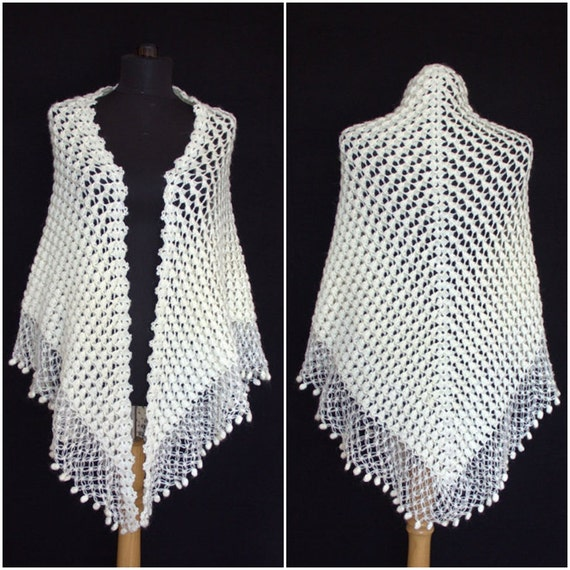 Crochet Shawl,Ivory Bridal Shawl,mohair shawl,Ivory Shawl Shrug Bolero,Crochet Shawl,Wedding Lace Shawl,Cape,Wedding Dress Cover  Bride Wrap