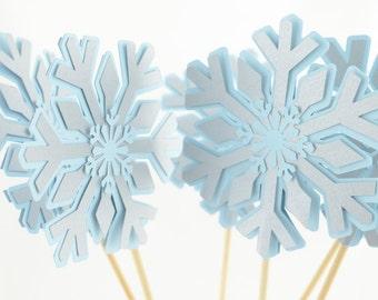 Snowflake Centerpieces, Onederland Theme, Snowflake Theme, Onderland Centerpieces, Set of 4