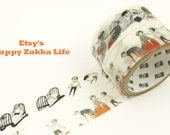 Important Little Thing in Life Series - Vol. 6 Daily Life & Cat - Japanese Washi Masking Tape Set - 2 rolls - 3.3 Yard (each roll)