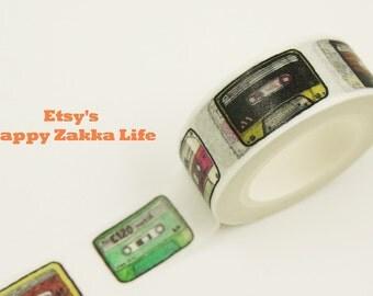 Cassette - Japanese Washi Masking Tape - 11 Yards