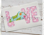 Raggy Applique Kentucky Love Machine Embroidery Design - 4 Sizes
