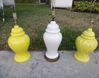 GINGER JAR-MANIA / You pick One Of Three Single Ginger Jar Lamps / Hollywood Regency
