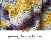 Crochet Chevron Blanket Pattern, Crochet Baby Blanket Pattern, Crochet Granny Chevron Blanket Pattern, Crochet Striped Blanket Tutorial
