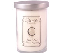 JACK FROST - Vanilla and Peppermint candle, 12 oz, optional gift box