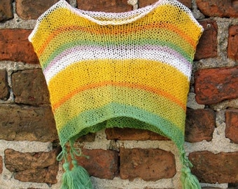 SALE CHILDRENS CLOTHING Kids Poncho Children Sweater size 5 to 11y Spring Clothing Children Spring Clothing