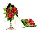 FREE SHIPPING - Rose with Black Shoe #1 - 2016