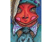 ACEO Original The Frog Prince SO FANCY