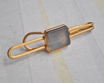 Vintage Soviet gold plated tie bar clip.