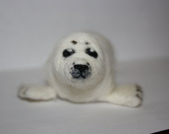 Small baby seal needle felt sculpture
