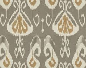 One 52 x 108 Tablecloth -  Linen Kravet Bansuri Ikat - Slate