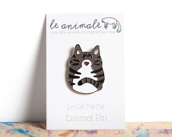 Cat Pin, Enamel Pin, Gifts for Friends, Meow, Cat Lovers, Crazy Cat Lady, Unique Gifts, Stocking Stuffers, Gifts for Her, Tabby, Cats Rule