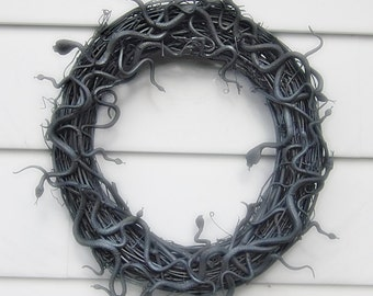 Halloween Wreath, Snake Wreath, Halloween Medusa Wreath, Scary Wreath, Creepy Wreath