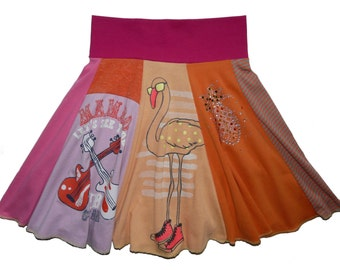 Girls Size 7 8 Upcycled Hippie Skirt recycled t-shirt clothing from Twinkle