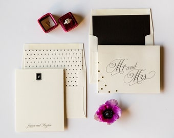 Downtown Deco Couple's Stationery