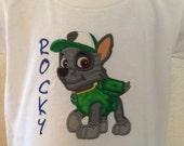 Rocky Paw Patrol Applique Shirt