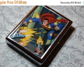 ON SALE Metal Wallet or Cigarette Case made from Upcycled Superman Comic Book Artwork