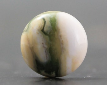 CLEARANCE Circle Ocean Jasper Cabochon, Orbicular Jasper Natural Colorful Gemstone - Madagascar, Atlantis Stone (CA5652)
