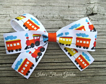 train hair bow, hairbow