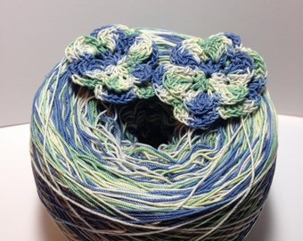 LAST AMOUNTS - Crochet Cotton - Size 10 - Hand Dyed - Walk in the Park - HDT - Small Project Size - 10, 25, 50, 75 or 100 Yards