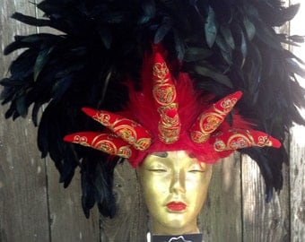 Red Hot Chilli Pepper Feathered Headdress