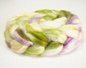 SW Merino / Silk Wool Top (Roving) - Spinning Fibre 4 oz. - Herb Garden
