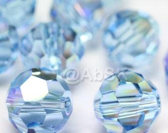 Promotion Item - 100pcs Swarovski Elements 5000 5mm Crystal Round Beads - AQUAMARINE AB (While Stocks Last)