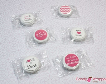 Love is Sweet Wedding Lifesaver Singles - set of 100