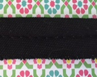 5 Yards Of  Black 100% Cotton Piping Trim (Made In USA)