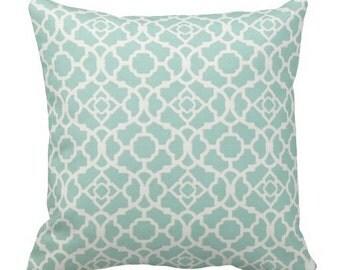 Outdoor Pillows,Blue Outdoor Waverly Pillows,Outdoor Chair Pillow,Throw Pillows,Patio Pillows, Outside trellis Pillows,Pillow Covers