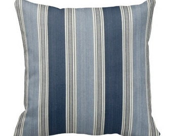 striped pillows, blue pillows, decorative pillows, throw pillow covers, pillows, cushion covers, chair pillows, bed pillows, waverly pillows
