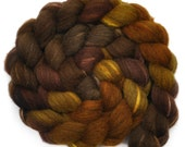 Hand painted combed top roving - Silk / BFL wool 30/70% spinning fiber - 4.0 ounces - Wild Horses 1